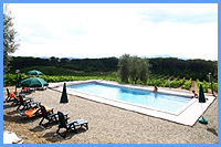 Agriturismo Amina - Swimming Pool with view over the vineyards
