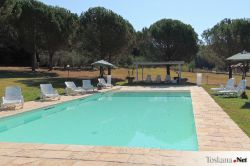 The Swimmingpool of Borgognano Farmhouse Massa Marittima Maremma Tuscany