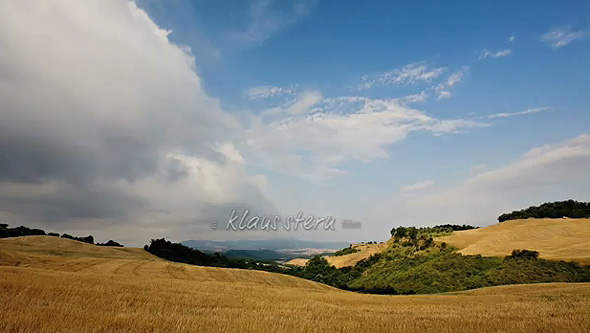 Timelapse Video Landscape Tuscany
