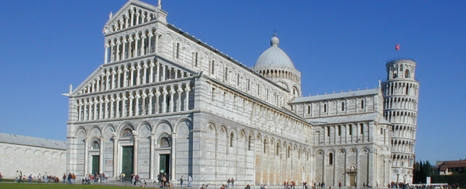 Piazza dei Miracoli and the leaning tower - Pisa Tuscany