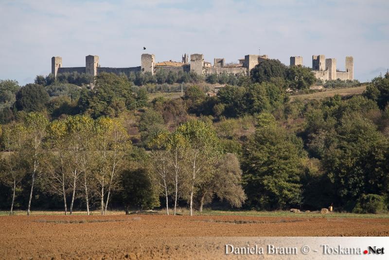 View of Monteriggioni near Siena Tuscany