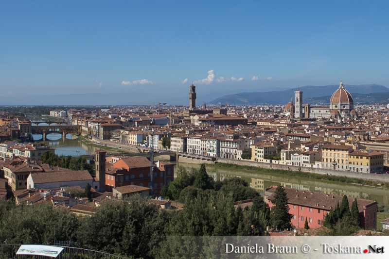 View from Piazzale Michelangelo over Florence and the Arno river