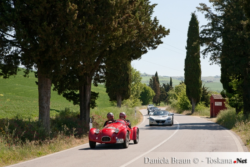 Mille Miglia old-timer race - near S. Quirico d'Orcia and Bagno Vignoni Tuscany