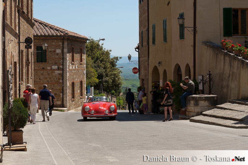 Mille Miglia Old-Timer Race - Entering Quirico d'Orcia Tuscany