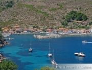 Vista sul porto dell'Isola di Capraia