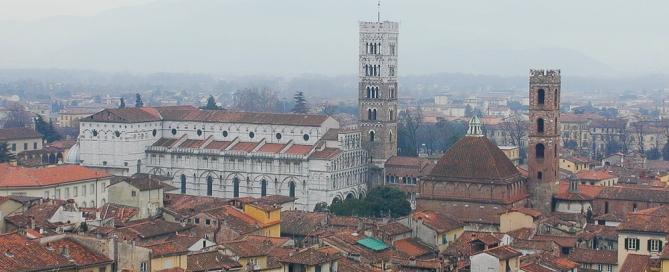 Vista panoramica su Lucca