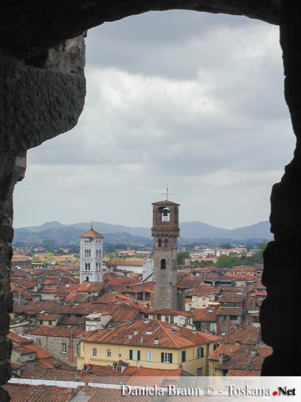 Blick auf die Altstadt von Lucca