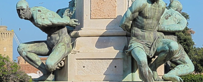 Alle 4 Nasen der Quattro Mori in Livorno