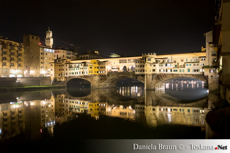 Ponte Vecchio bei Nacht Florenz