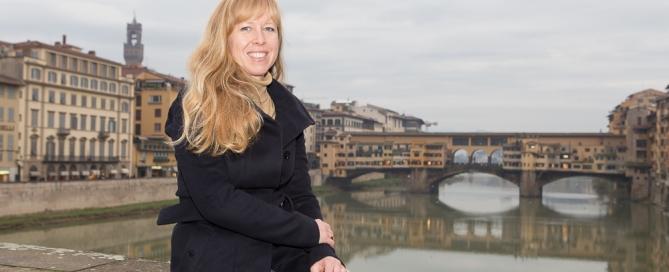 Blick auf den Ponte Vecchio in Florenz Toskana