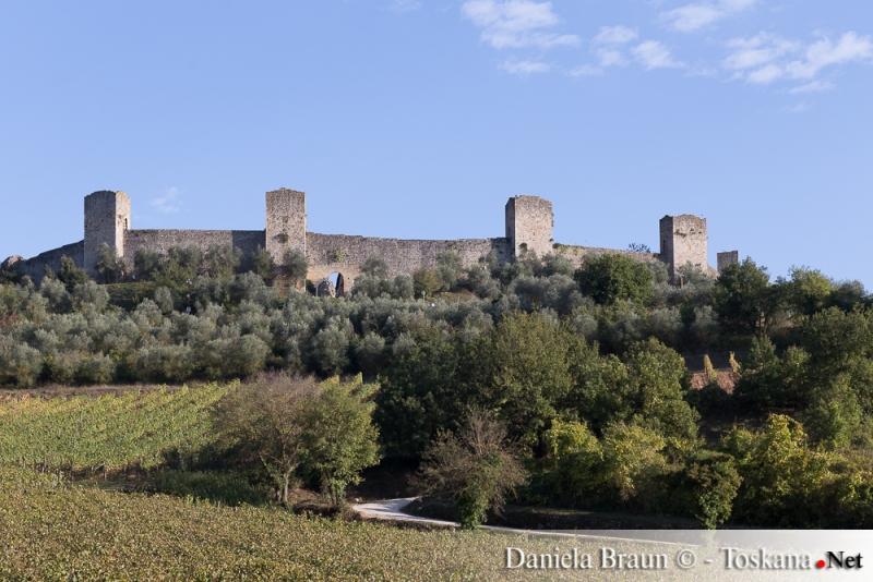 Monteriggioni nahe Siena Toskana