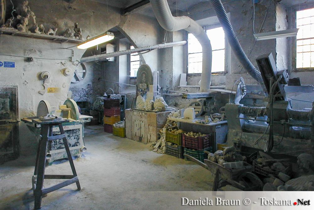 Alabasterwerkstatt Volterra - Pisa Toskana