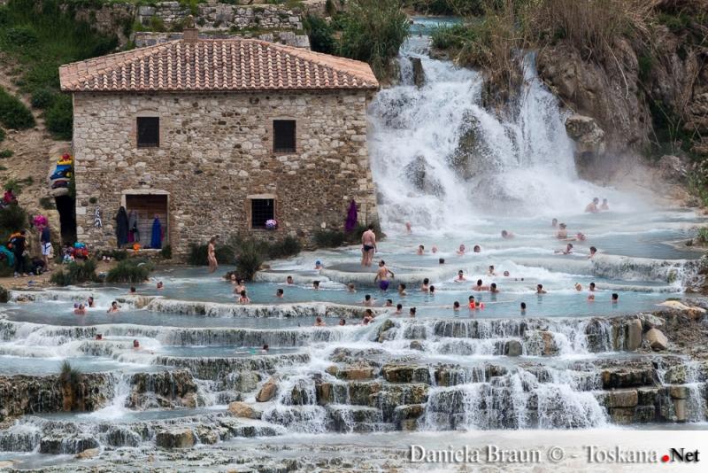 Cascate del Mulino - Die natürlichen, kostenlosen und frei zugängigen Quellen vor Saturnia