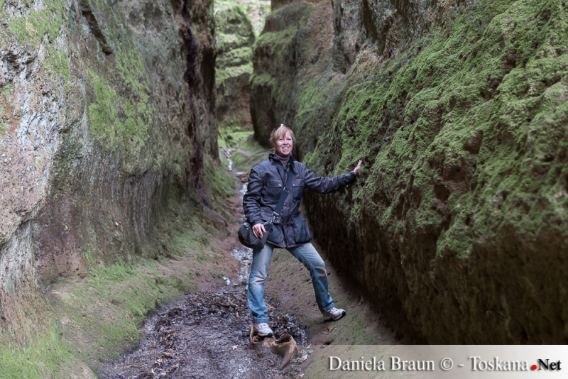 Le Vie Cave Sovana - Die von den Etruskern in den Tuffstein gegrabenen Wege
