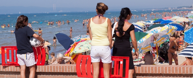 Fotos vom Ferragosto, 15. August Strand Follonica Maremma Toskana