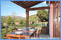 Il Ciliegio Sorano - Terrace with pool and countryside view of one of the apartments