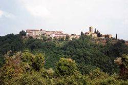 Vista su Colle di Buggiano in Provincia di Pistoia Toscana