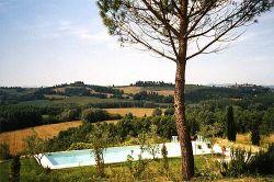 La piscina dell'agriturismo vicino a Volterra Toscana