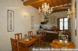 Sala Colazione B&B Palazzo al Torrione nel Centro di San Gimignano Toscana