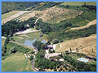 Agriturismo Le Mandrie di Ripalta - Blick auf das Landgut bei Florenz Toskana