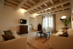 Locanda Rossa Capalbio - Living room of the standard apartment