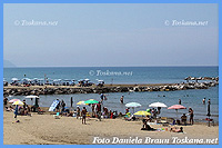 View over the beach and the centre of San Vincenzo