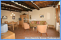 Villa Dievole - Living room of Colombaia Suites